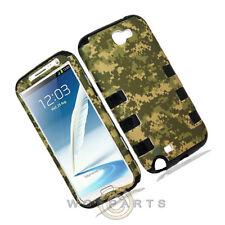 Samsung N7100 Galaxy Note 2 Hybrid Case-Camo Desert Green Case Cover Shell Guard