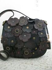 Coach Tea Rose Applique 1941 Saddle Handbag 20115   Retail $695.00