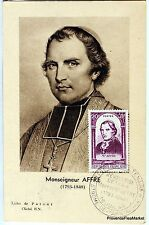 France Carte Maximum  1948 MONSEIGNEUR AFFRE DENIS AUGUSTE  ARCHEVEQUE   Yt 802
