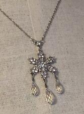 Brighton Arctica Silver & Crystal Snowflake Winter Christmas Necklace New