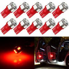 JDM ASTAR 10pc T10 Red 5050 SMD High Power LED Lights Bulbs 194 168 2825 W5W 175