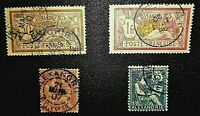 FRENCH OFFICES - 1902/3 ALEXANDRIA - 4 USED Inc. 2 MERSON - Peace & Liberty(312)