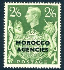 MOROCCO AGENCIES-1949 2/6d Yellow Green Sg 92 MOUNTED MINT V16972