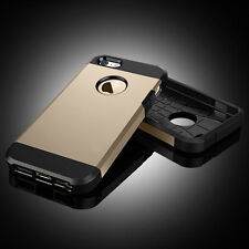 For Apple iPhone 5 5S Case- Luxury Design Two-Layer Slim Protective Case - Gold