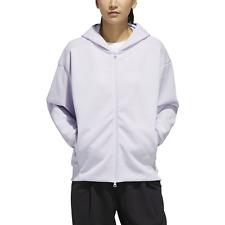 Adidas Core Ladies Casual Jacket W Wording Print Oversized Spacer Hoodie Purple