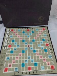 Vintage Scrabble 1948 Original Game Board (Board & Box only) For Parts
