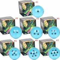 Dragon Ball Z Stars Crystal Balls Blue 7 Cm Large Elegant Gift Box Complete Set