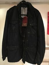 French Connection FCUK men's Wax Jacket Coat RRP £125 Dark