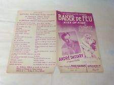 ANDRE DASSARY - Partition BAISER DE FEU !!!