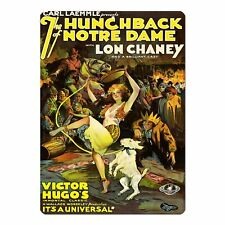 "The Hunchback Of Notre Dame 1923 Vintage Movie Poster Mini 5"" x 7"" Metal Sign"