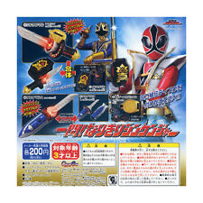 Bandai Power Ranger Shinkenger SAKANAMARU Sushi Sword Morpher Set of 5 Gashapon