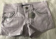Celebrity Pink Jean Shorts Spike Studs  Size 13