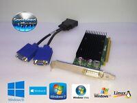 HP Compaq 8200 8300 Elite Tower NVIDIA NVS Dual VGA Monitor Video Card + Cable