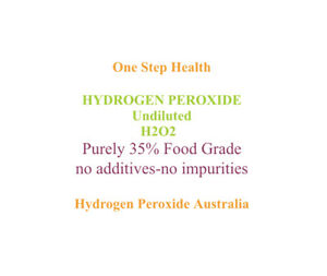 HYDROGEN PEROXIDE PURE FOOD GRADE 35PC - 500ml. NO TOXIC STABILISERS