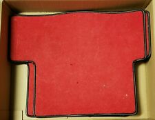 Fiat 124 Spider Red Floor Mats - Rear ONLY