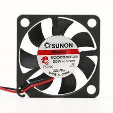 1PC SUNON MC30060V1-000C-A99 3006 3CM 5V 0.56W 2-wire silent cooling fan