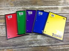 Spiral Notebook 70 Sheets Wide Rule 5-Pack Back To School Supplies Writing New