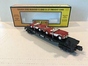 NEW RAIL KING MTH TRAINS-FLAT CAR W/DIE CAST ERTL 1964 CORVETTES-O-SCALE 30-7624