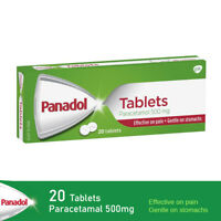 20 Tablets Paracetamal Panadol Effective On Pain Gentle on Stomach