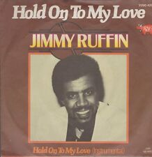 """7"""" Jimmy Ruffin Hold On To My Love (Instrumental & Vocal) 80`s RSO (Near Mint)"""