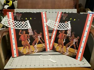 NBA Bas Ket Basketball Cadaco Vintage Board Game 1980 Replacement Backboards NOS
