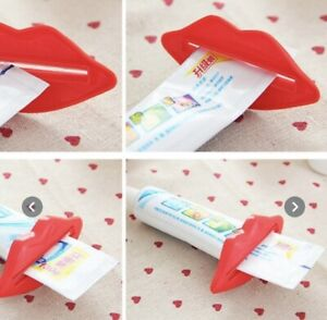 2x Pink Lips Toothpaste Tube Extruder Squeezer Dont Waste A Drop
