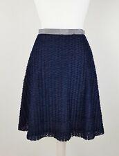 Baum Und Pferdgarten Blue Textured A Line Knee Length Skirt Size M