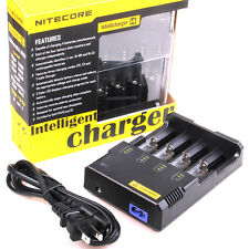 Sysmax i4 Nitecore 14500 18650 CR123A 16340  AA AAANi-MH / Ni-CD Battery Charger