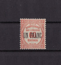 timbre France TAXE   UN FRANC   sur 60c rouge      num: 63   **