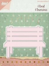 JOY CRAFTS FLORAL FLOURISHES Die Cutting Stencil - WOODEN BENCH - 6002/0191