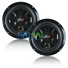 """(2) *NEW* PowerBass S-10T 10"""" SHALLOW MOUNT THIN CAR SUBWOOFERS SUBS S10T *PAIR*"""