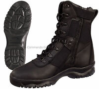 """Forced Entry 8"""" Black Tactical Boot W/ Side Zipper - Military Police SWAT Boots"""