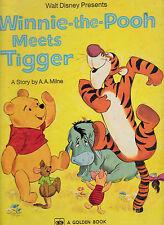Winnie the Pooh Meets Tigger by AA Milne Big Golden Book 1975 Walt Disney