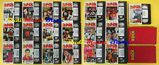 20 VHS + 2 BOOK IL GRANDE ROCK VIDEO lennon hendrix doors marley cd lp dvd (VM9)