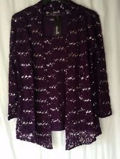 NEW LADIES TWIN SET LACE & SEQUINS TOP WITH MATCHING JACKET *4 COLOURS 8 SIZES*