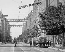 Historical Photograph Milwaukee Pabst Beer Horse Drawn Delivery Wagon 1898 11x14
