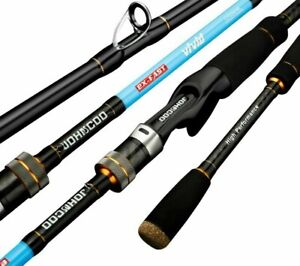 Spinning Rods Fast Action Carbon Solid Tublar Tip Trout Jigging Perch Poles