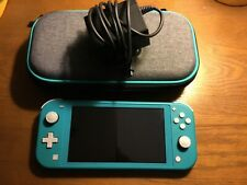 Nintendo Switch Lite Handheld Turquoise-charger, case, and 32gb micro sd card
