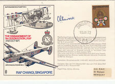 RAF Changi Singapore Signed Gp Capt Livock DFC AFC WW1 Pilot
