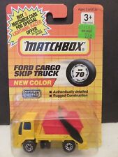 1991 Matchbox Ford Cargo Skip Truck MB70 Yellow/Red Construction Die-Cast Metal