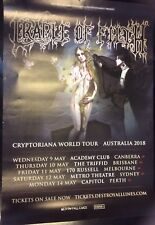 RARE Cradle Of Filth Cryptoriana World Tour Australian Dates Poster May 2018
