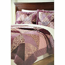 Laura Hart Luxury Jacquard 3-Piece Quilt Set, Ryanna (Queen) 67245