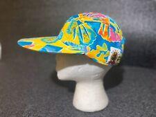 Vtg 90s 5-Panel supreme Hawaiian Hat Cap Floral Fish Skate YO WEAR streetwear