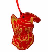 German Shepherd Santa Christmas Ornament K9 Schutzhund Police Gift SAR LEO