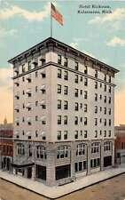 Kalamazoo Michigan Hotel Rickman Antique Postcard J51149