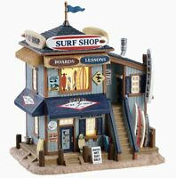 Lemax Plymouth Corners 2018 SKIP'S SURF SHOP #85339 BNIB Lighted Porcelain Build