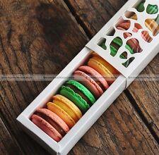 10pcs White Cute Cake Box Cookie Hollow Macaron Cupcake Container SM2