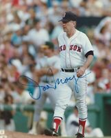 JOE MORGAN MANAGER OF BOSTON RED AUTOGRAPHED  8x10 COLOR PHOTO