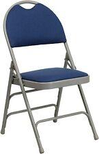 Flash Furniture HERCULES Series Ultra-Premium Navy Fabric Folding Chair New
