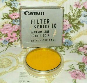 "VINTAGE CANON SERIES IX (9) YELLOW  Y3 2X GLASS FILTER.B&W JAPAN 82.6 MM /3.25"""